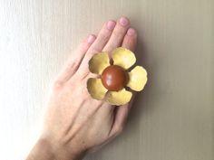 Repurposed Vintage RETRO Flower Cocktail Statement by ZiLLAsQuEeN, $28.00