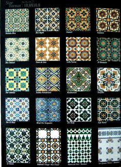 Hand painted ceramic tiles traditional floor tiles Tile Patterns, Color Patterns, Painting Ceramic Tiles, Art Nouveau Tiles, Antique Tiles, Moroccan Tiles, Ceramic Design, Shop Interior Design, Hand Painted Ceramics