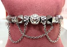 PANDORA Bracelet made Safety Chains n Clips