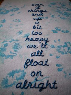 """Float On"" by Modest Mouse. Heard this song on the radio and loved it!"