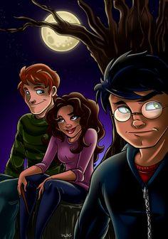 Moonlit Trio by Anamated.deviantart.com on @deviantART