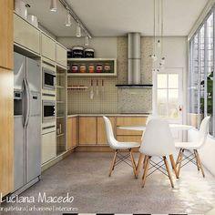 https://www.instagram.com/lucianamacedo.arquitetura/ Dá vontade de morar nessa cozinha. Eita!😍😍😍