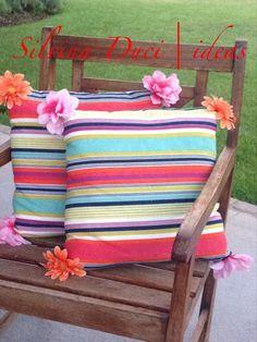 almohadones para sillones de jardn rayas y flores con mucho color