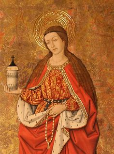 Pintura gótica. Santa María magdalena. Finales del siglo XV. Iglesia de Santa María la Mayor de Alcañiz, España