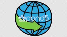 arrow 38 globe animation with transparent background - #Stock #Footage | by faisalj75 on #Pond5