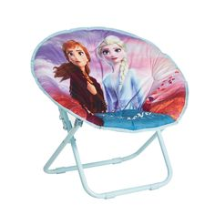 Disney's Frozen 2 Anna and Elsa Collapsible Saucer Chair Little Girl Toys, Toys For Girls, Fuzzy Bean Bag Chair, Diy Projects Garage, Disney Frozen Toys, Frozen Merchandise, Pinturas Disney, Teepee Kids, Pink Leaves
