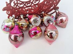 Vintage Christmas Ornaments Old World Ornaments Glass