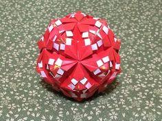 折り紙 花のくす玉 折り方 - YouTube