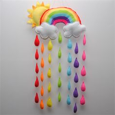 Sunshine and Rainbow Baby/Nursery mobile/wall hanging | www.madeit.com.au/RazzleDazzle4U