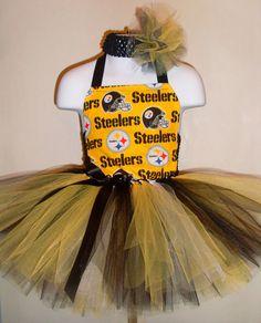 6c2772117 Pittsburgh Steelers Tutu Dress by 4EverTuTu on Etsy