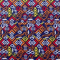 Primary Ethnic Print Cotton Jersey Blend Knit Fabric