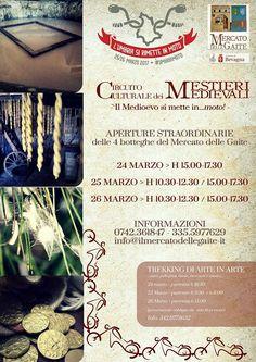 Italia Medievale: Aperture straordinarie delle botteghe del Mercato delle Gaite