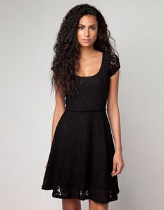 Black Lace Bershka United Kingdom - Bershka lace dress