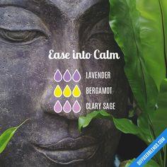 Blend Recipe: 3 drops Lavender, 3 drops Bergamot, 3 drops Clary Sage