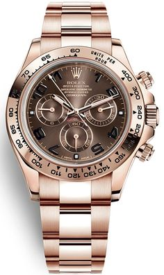 Look at amazing Rolex Oyster Perpetual Cosmograph Daytona Everose Gold Chocolate Dial 40 mm Mens Watch with worldwide delivery Elegant Watches, Stylish Watches, Luxury Watches For Men, Beautiful Watches, Cool Watches, Rolex Watches, Diamond Watches, Diamond Rolex, Gold Rolex
