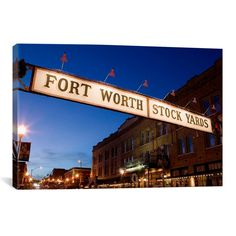 You'll love the 'Fort Worth Stockyards, Fort Worth, Texas' Photographic Print on Canvas at Wayfair - Great Deals on all Décor & Pillows products with Free Shipping on most stuff, even the big stuff.