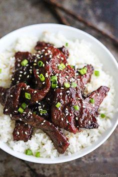MONGOLIAN BEEF - 1 lb sirloin or flank steak Marinade: 1 egg white Pinch of salt 1 teaspoon sesame oil 1 tablesp...