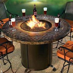 DIY Gas Fire Pit Table | Gas Logs, Fire Glass, Fire Pits Heaters more new read here: http://roundpatiotable.net