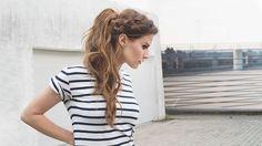 Braided Messy Ponytail by fraumau.de #braided #messy #ponytail