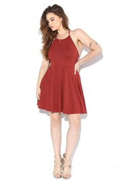 Strappy Back Cinched Waist Dress Dresses+ GS-LOVE