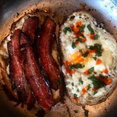 Bacon Egg & Cheese Bullseye on Sourdough (A circle of bread is taken out and replaced by frying an egg into the crust)