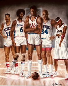 e7c6b5f4f All Time Sixers Starting Five Pro Basketball