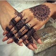 Likes, 11 Comments - ✨ Daily Henna Inspiration ✨ ( on Ins. Henna Tattoos, Henna Tattoo Hand, Henna Tattoo Designs, Tattoo Designs For Women, Paisley Tattoos, Designs Mehndi, Mandala Tattoo, Mandalas Drawing, Henna Designs
