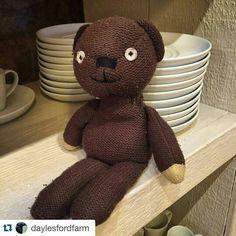 Cute knitted bear