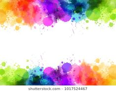 Banner with colorful watercolor imitation splash blots frame. Template for your designs. Paint Splash Background, Poster Background Design, Kids Background, Flower Background Wallpaper, Flower Backgrounds, Watercolor Background, Watercolor Art, Splash Watercolor, Picture Borders