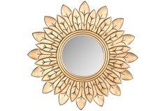 """30"""" Sunburst Mirror, Gold"""