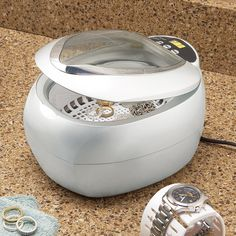 Ultrasonic jewelry cleaner from brookstone. I always want clean jewelry!!