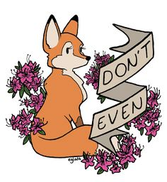 """a few more rude foxes because I literally can't help myself "" buy them on stuff on [redbubble] and [society6] plus prints and charms on [storenvy]"