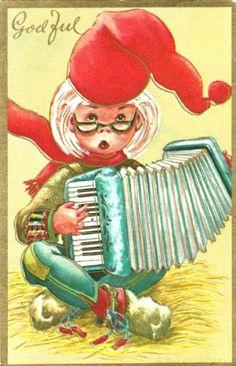 Julekort Anne Eline Coucheron utg Oppi brukt 1966