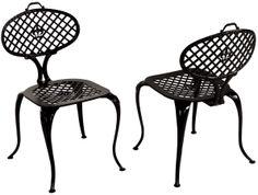 Restored Cast Aluminum Bistro Chairs by Thinline