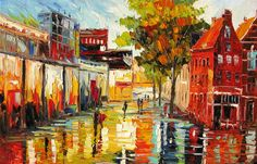 ORIGINAL Oil Painting ART A Brand New Day 23 x 36 by decorpro