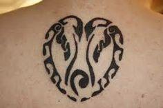 Penguin family love tatto