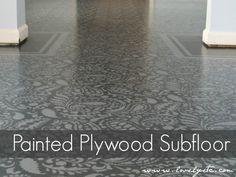 Beautiful and Super Cheap DIY Floors: Concrete, paper bag, stencil, pallet!.........http://diyfunideas.com ==========BEST DIY SITE EVER!