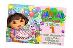 Dora the Explorer Invite