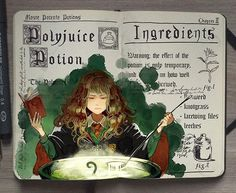 WEBSTA @ _picolo - Polyjuice Potion ✨From last year's #inktober! I'm super excited for Fantastic Beasts and Where to Find Them so I'll probably go back to this series of spellbooks on November, to draw some magic creatures!-Also, sorry for being slow on posts again guys, gotta hit some deadlines then I'll be back -See all HP Spellbooks here ► #hpspellbooks ◄#harrypotter #hermione #throwback