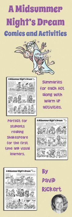"""A Midsummer Night's Dream"" cartoon summaries and activities. Perfect for adding…"
