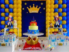 Decoração de festa de aniversário do Pequeno Príncipe                                                                                                                                                      Mais The Little Prince Theme, Little Prince Party, First Birthday Party Decorations, First Birthday Parties, First Birthdays, Stage Decorations, Prince Birthday Theme, Baby Boy 1st Birthday, Prince Cake
