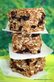 The Allergic Kid: Chunky, Chewy, Nut Free Granola Bars.  I'm going to try with peanut butter since we don't have any allergies.