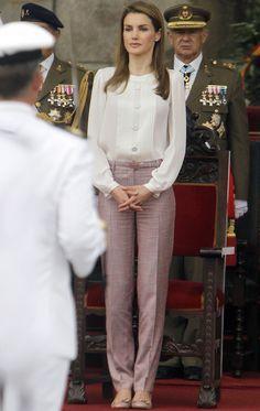 Rosa+pastel -  Princess Letizia of Spain -  summer looks