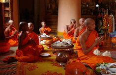 Buddhist Holidays for An Online Illustrated Calendar: July Asalha Puja; Beginning of Vassa (Theravada) Christmas Abbott, Monsoon Rain, Diy Christmas Decorations Easy, Meditation Retreat, Buddhist Monk, The Monks, First Night, Buddhism, Monaco