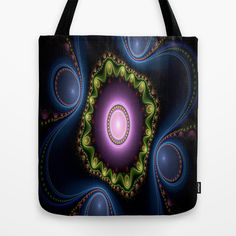 India Fractal Design Tote Bag by Fine2art - $22.00