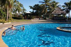 Mana Island. Get there with South Sea Cruises. #cruise #island #fiji #pool #swim #tropics