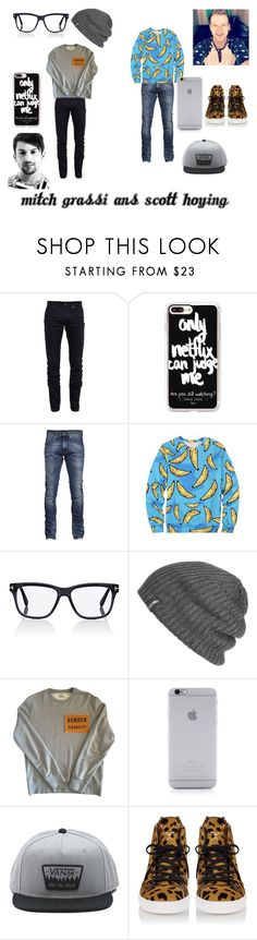 """""""Mitch Grassi and Scott Hoying"""" by pentatonixptx on Polyvore featuring Yves Saint Laurent, Casetify, Tom Ford, Outdoor Research, Acne Studios, Native Union, Vans, men's fashion and menswear"""