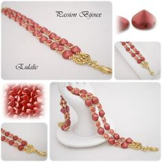 *P Beading Tutorial bracelet EULALIE step by step with pictures
