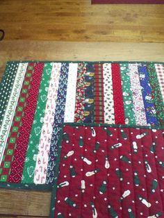 Christmas/winter placemats -- sew and quilt as you go.