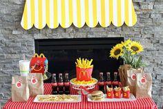 Jenny S's Birthday / McDonald's - Photo Gallery at Catch My Party Mc Donald Birthday, Mc Donald Party, 6th Birthday Parties, 1st Boy Birthday, Birthday Celebration, Birthday Ideas, Diy Holiday Gifts, Holiday Parties, Mcdonalds Birthday Party